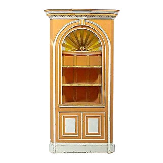 Vintage George III-Style Corner Cabinet For Sale