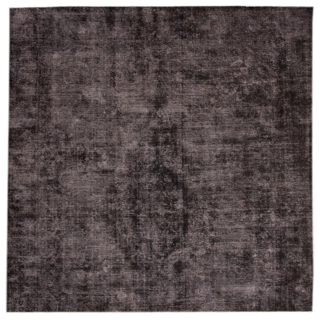 Textile Vintage Wool Overdyed Rug For Sale - Image 7 of 7