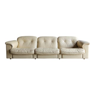"""Late 20th Century De Sede """"Ds-101"""" Leather Sofa For Sale"""