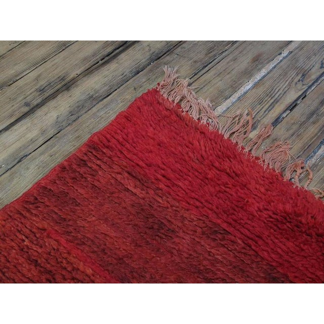 Primitive Red Beni Mguild Moroccan Berber Rug For Sale - Image 3 of 9