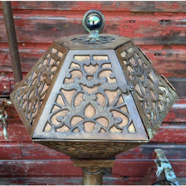 1920's American Arts & Crafts Movement Bronze Table Lamp For Sale In Providence - Image 6 of 9