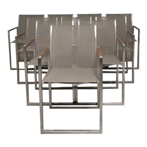 Royal Botania Ninix 360 Outdoor Garden Armchairs - Set of 10 For Sale