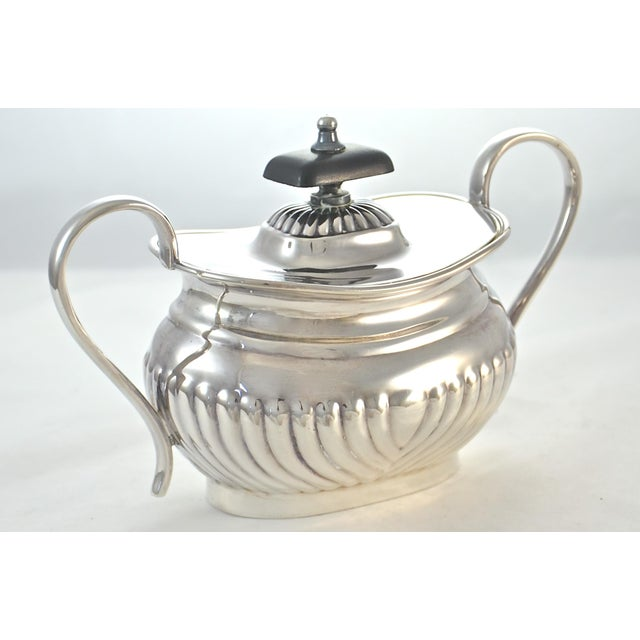 English Sheffield Silver Plate Coffee & Tea Set- 4 Pieces For Sale - Image 9 of 11