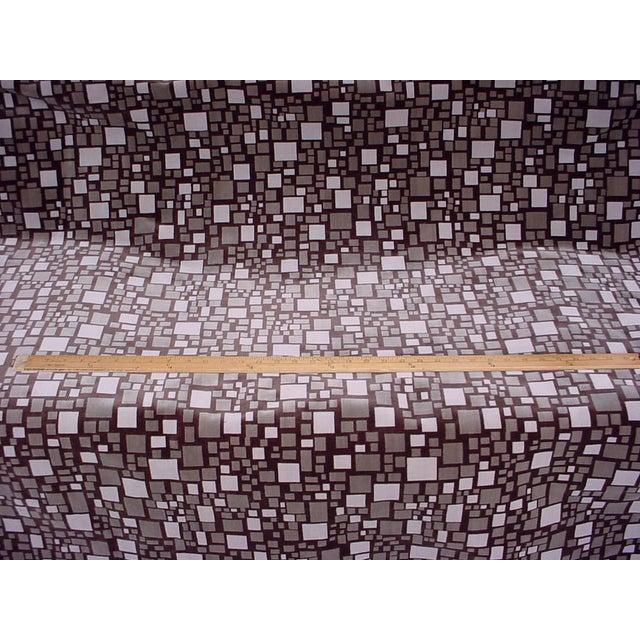 Brunschwig & Fils Modern Brunschwig Et Fils Br-88173 Mosaic Velvet Bark Brown Upholstery Fabric- 12 Yards For Sale - Image 4 of 5