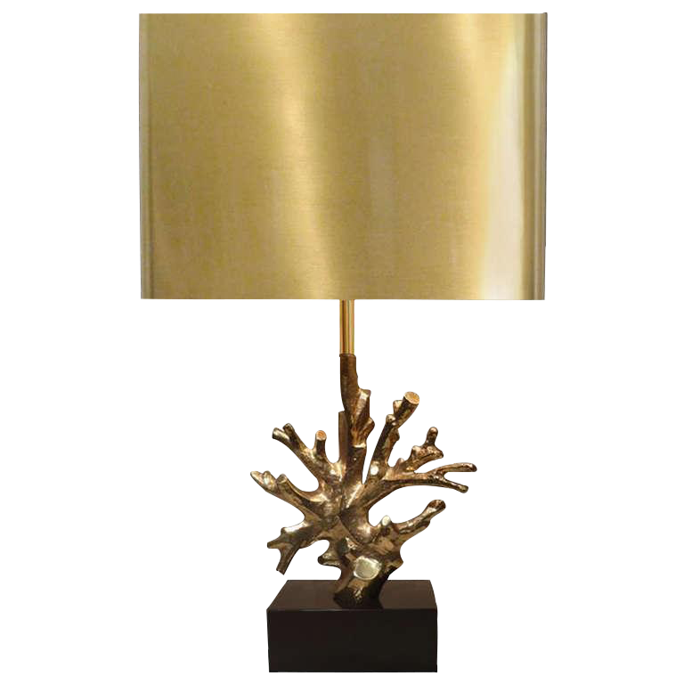 Signed Charles Bronze Coral Lamp   Image 1 Of 1