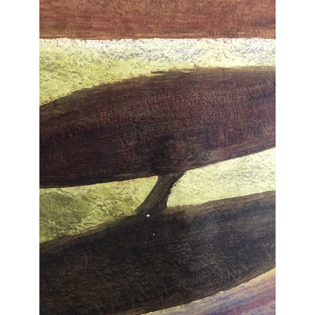 1950s Vintage Richard M. Goodwin Mid-Century Modern Abstract Painting For Sale - Image 6 of 7