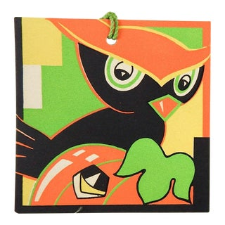 Art Deco Halloween Owl Bridge Tally Cards For Sale