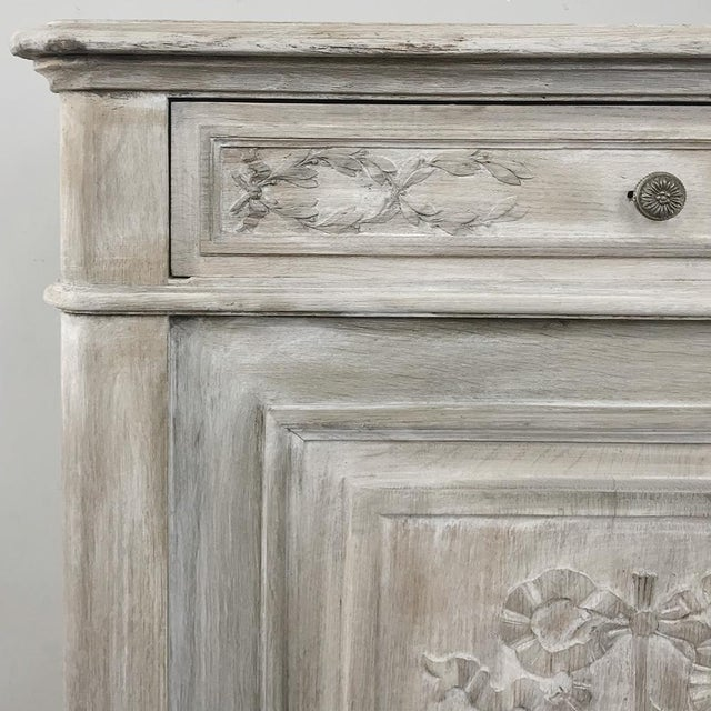 19th Century Country French Louis XVI Whitewashed Buffet For Sale - Image 10 of 13