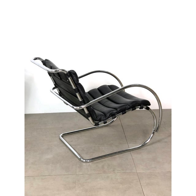 Bauhaus Vintage 1970s Mies Van Der Rohe Style Lounge Chairs - a Pair For Sale - Image 3 of 10