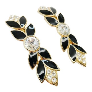 Chandelier Runway Clip on Earrings From 80s New York For Sale
