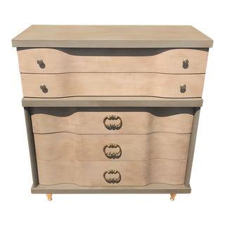 Mid Century Modern Bassett High Boy Dresser For Sale