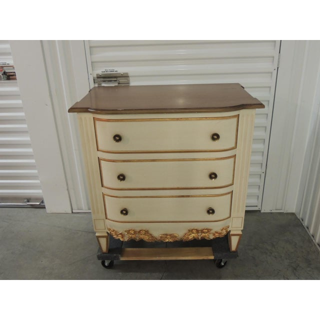 Pair of Natural and Gold Leaf Detail Nightstands/Dressers For Sale - Image 11 of 11