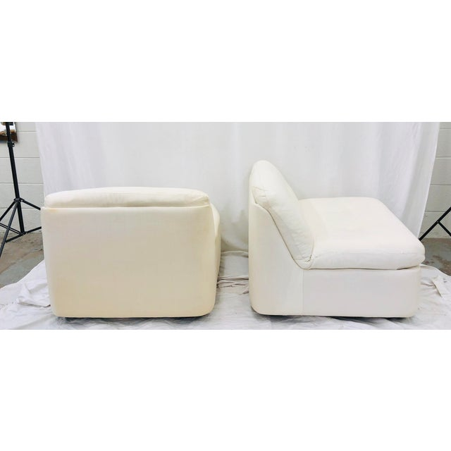 Vintage Contemporary Modern Slipper Chairs For Sale In Raleigh - Image 6 of 13