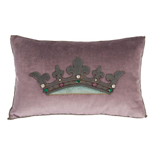 Gold B. Viz Design Antique Textile Pillow For Sale - Image 8 of 8