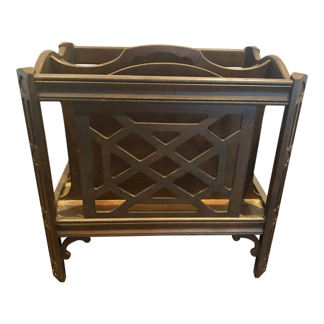 Popular Brand Antique Georgian Style Mahogany Canterbury Magazine Rack Antique Furniture