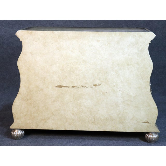 Cream Large Italian Rococo Style Leather Top Commode For Sale - Image 8 of 9
