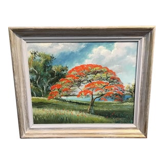 Contemporary Florida Highwayman Landscape Oil Painting by Sam Newton, Framed For Sale