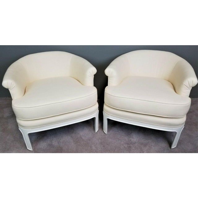 Hollywood Regency Tomlinson Club Chairs - a Pair For Sale - Image 12 of 12