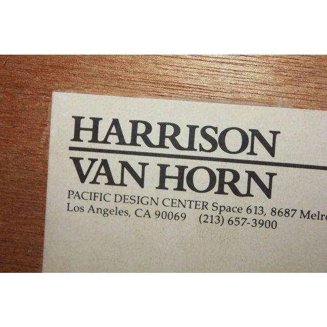 Harrison Van Horn 1980s Harrison-Van Horn Modern Lacquered Raffia Coffee Table For Sale - Image 4 of 6