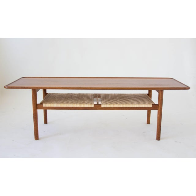 Hans Wegner AT-10 Coffee Table with Cane Shelf - Image 4 of 8