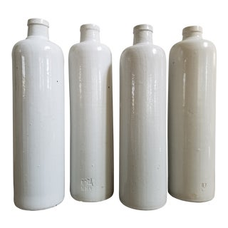 """Jim Beam"" Stoneware Bottles, 4 Piece For Sale"