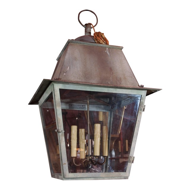 19th Century French Copper Lantern For Sale