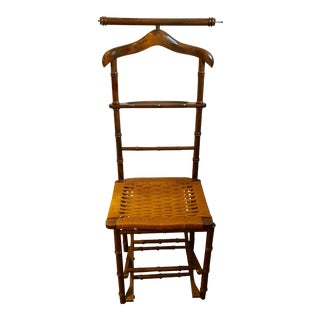 Italian Campaign Valet Chair For Sale