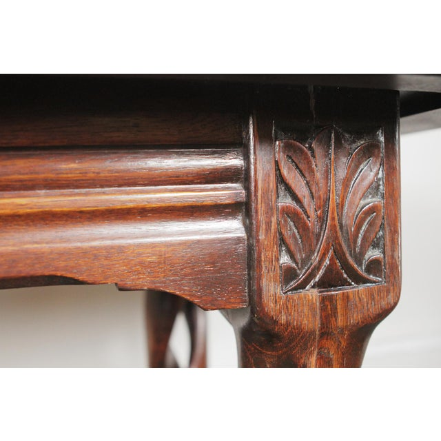 1900s Gothic Oak Console Table For Sale - Image 12 of 13