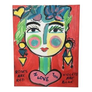 """Love"" Original Acrylic Abstract Painting"