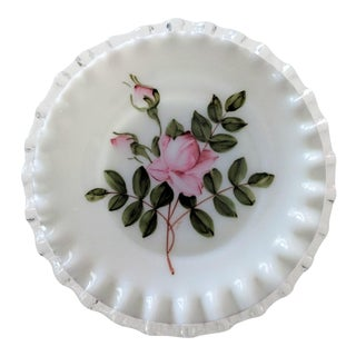 Hand Painted Fenton Silver Crest Bread & Butter Plate