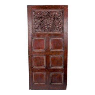 1880 Vanderbilt Mansion Original Hand-Carved Oak Lion Wall Panel