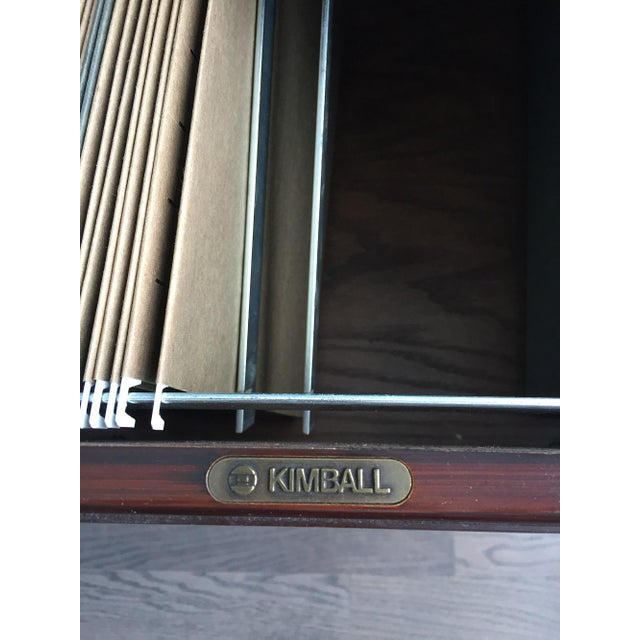 1980s Kimball Chippendale Wood & Brass Credenza For Sale - Image 5 of 8