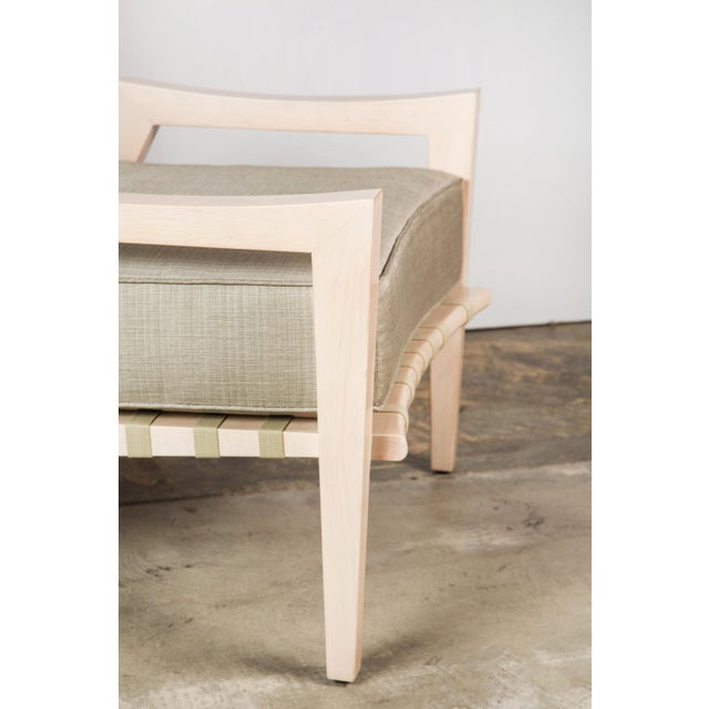 Wood Paul Marra Low Lounge Chair in Bleached Maple For Sale - Image 7 of 9