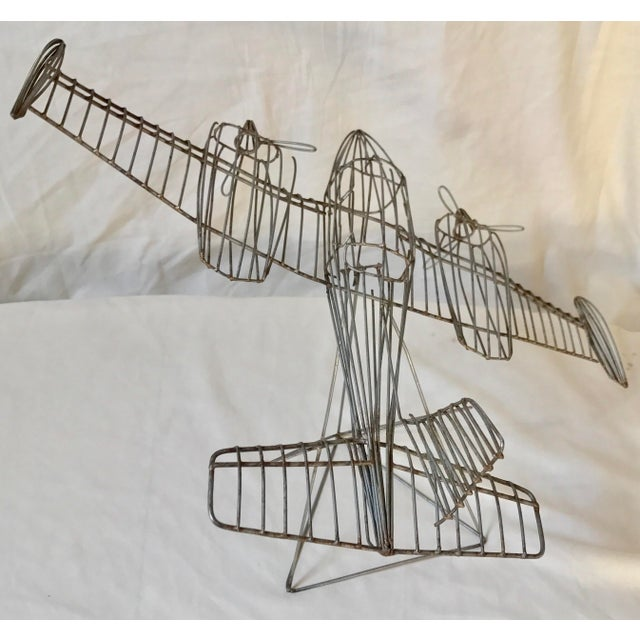 Vintage Airplane Wire Sculpture