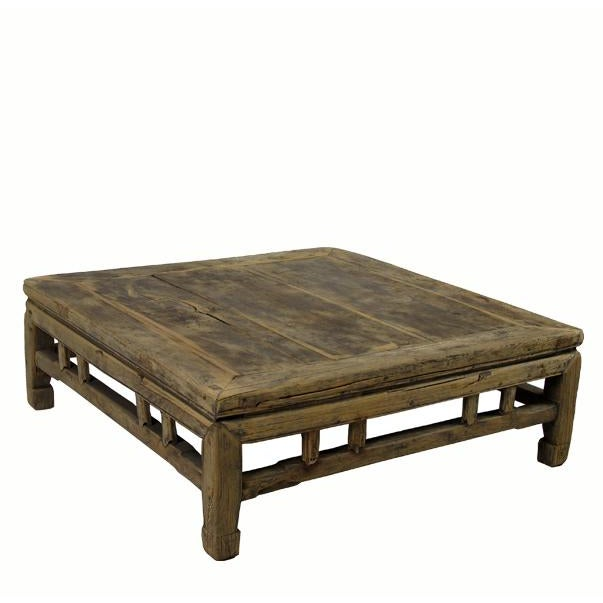 It is constructed mortise and tenon joinery and has flush top. Solid structure. It shows age proper shrinkage cracks,...