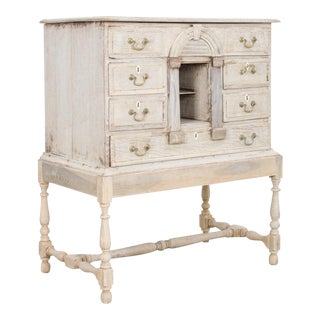 19th Century Bleached Oak Curiosity Cabinet For Sale