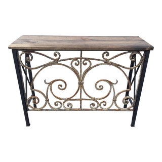 Art Nouveau Iron Console From Architectural Antique Gate For Sale
