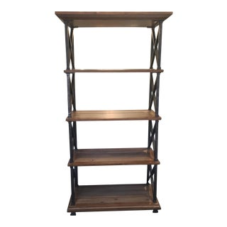 Distressed Iron & Wood Bookshelf
