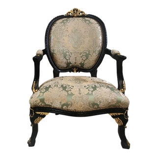 Accent Chair French, French Chair, Handmade, Antique Vintage Furniture Reproduction , Victorian For Sale