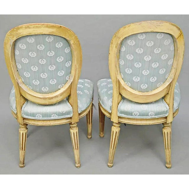 Antique White Antique Petite Louis-XVI Type French Chairs - a Pair For Sale - Image 8 of 9