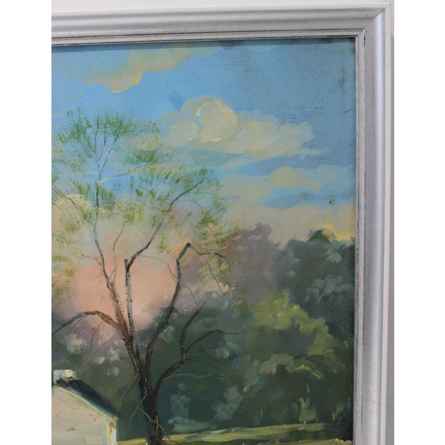 """1990s Vintage Oil Painting """"Kentucky Homestead"""" With Coa by Listed Artist John Elliot, Opa. For Sale - Image 5 of 12"""