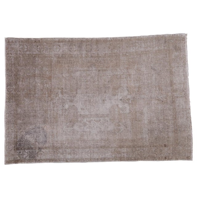 "Distressed Oushak Rug - 4'8"" X 7' - Image 1 of 10"