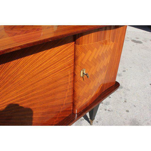 French Art Deco Exotic Rosewood Sunburst Sideboard / Buffet Circa 1940s - Image 7 of 10