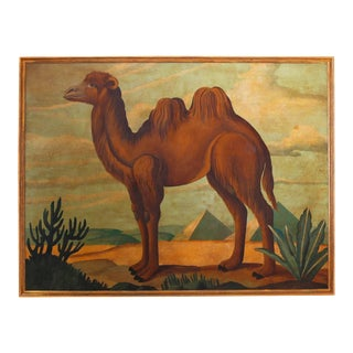 Oil Painting on Canvas of a Camel by William Skilling For Sale