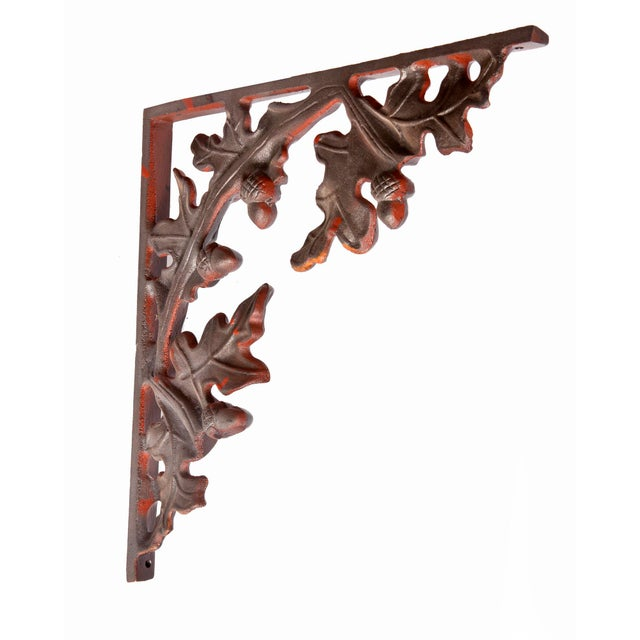 Metal 1990s Cabin Leaf Brackets - Set of 4 For Sale - Image 7 of 9