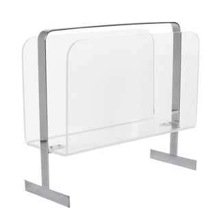1970s Lucite & Chrome Magazine Rack For Sale