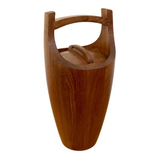 1960s Mid Century Modern Dansk Teak Ice Bucket For Sale