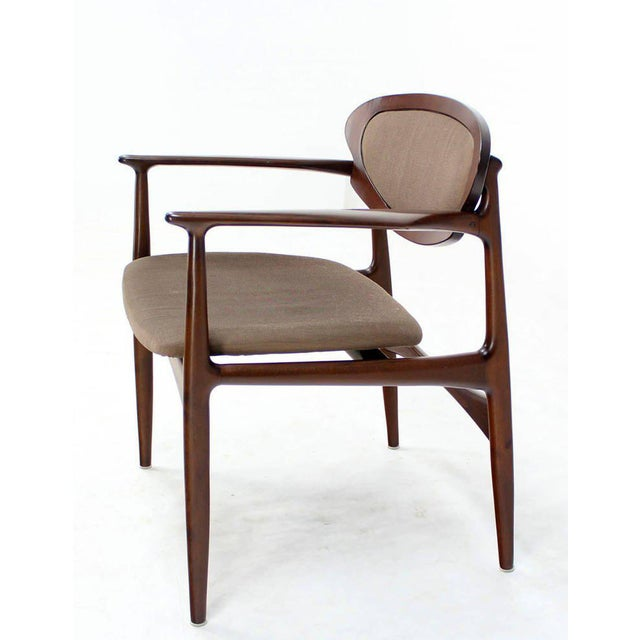 1970s Extra-Wide Mid-Century Danish Modern Lounge Chair by Selig For Sale - Image 5 of 10