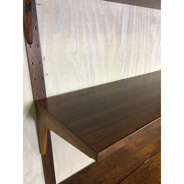 Brown HG Danish Rosewood Wall Mounted Unit by Rud Thygesen and Johnny Sorenson For Sale - Image 8 of 13