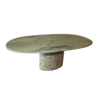Mid Century Italian Carrara Marble Dining Table